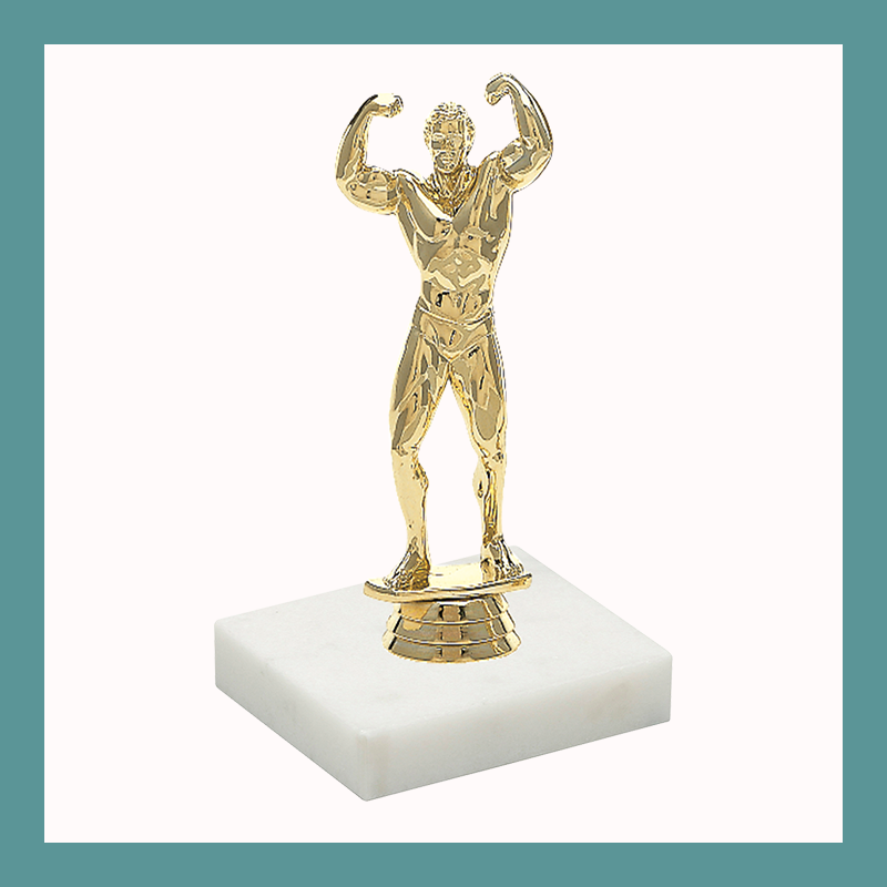 Body Building Figurine Trophy