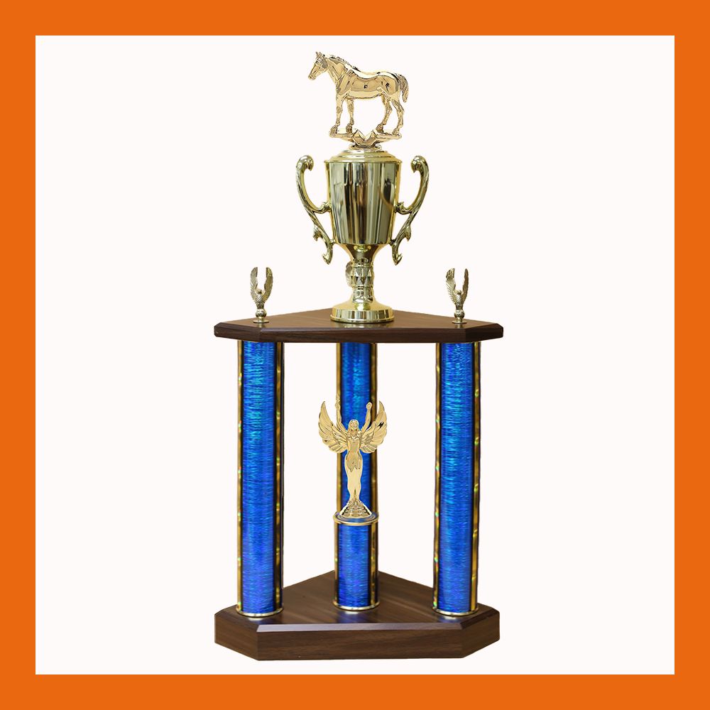 Equestrian Three Poster Trophy