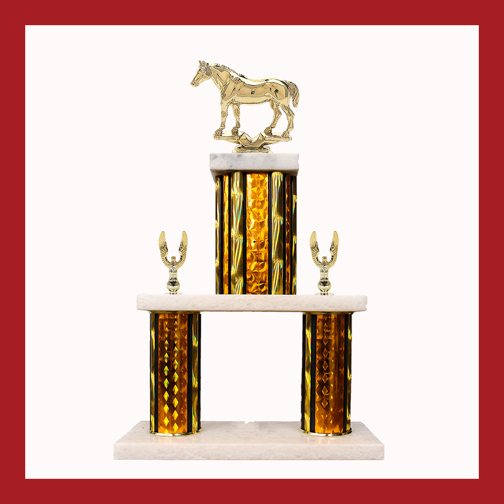 Equestrian Marble Mini Two Poster Trophy
