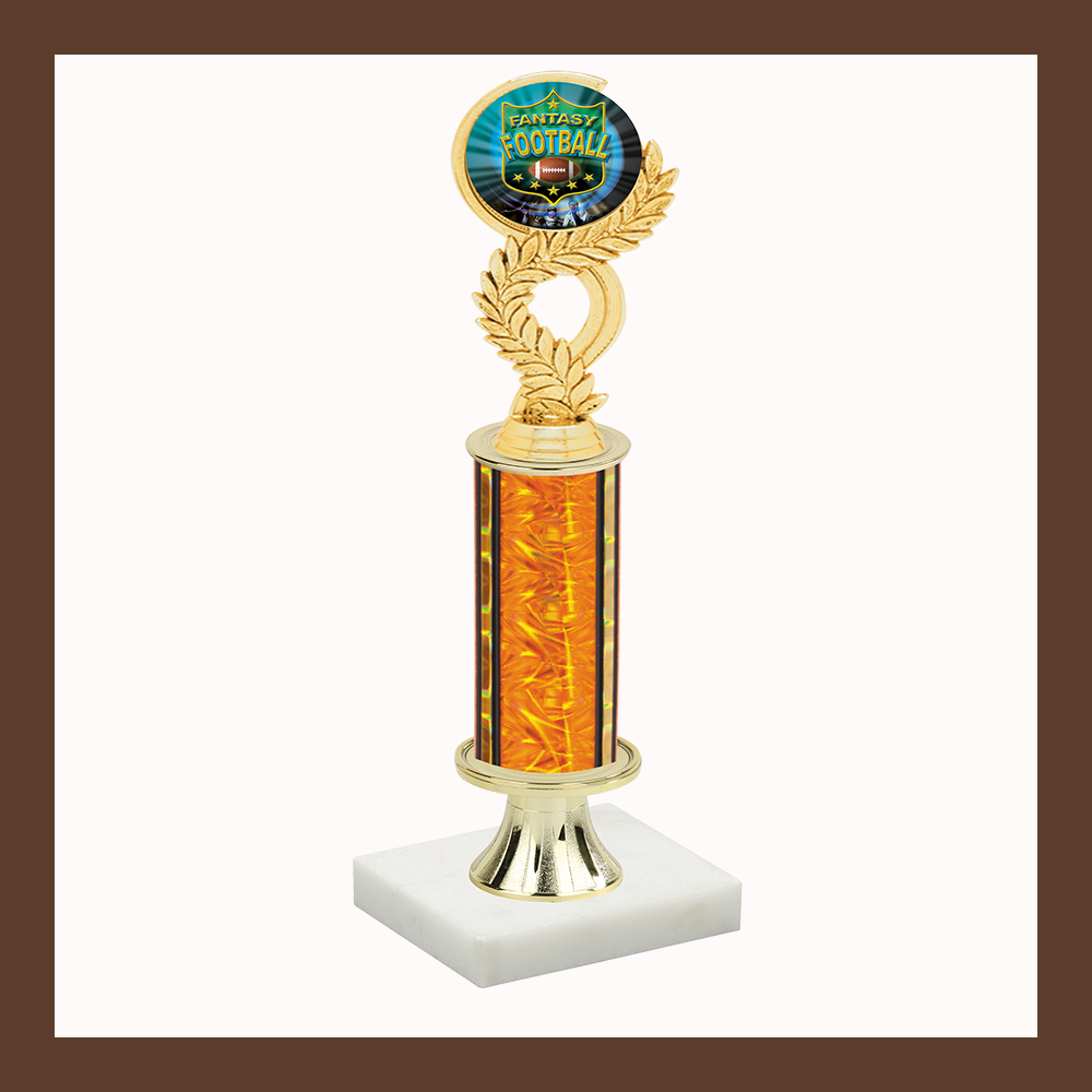 Football Laurel Mylar Pedestal Trophy