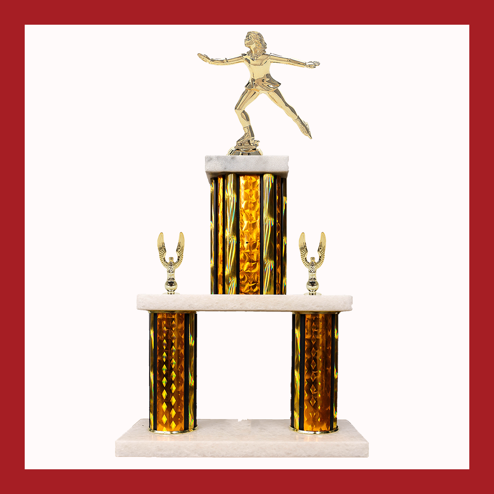 Figure Skating Marble Mini Two Poster Trophy