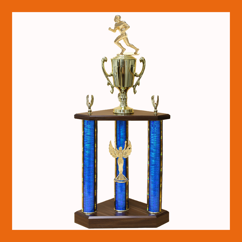 Football Three Poster Trophy