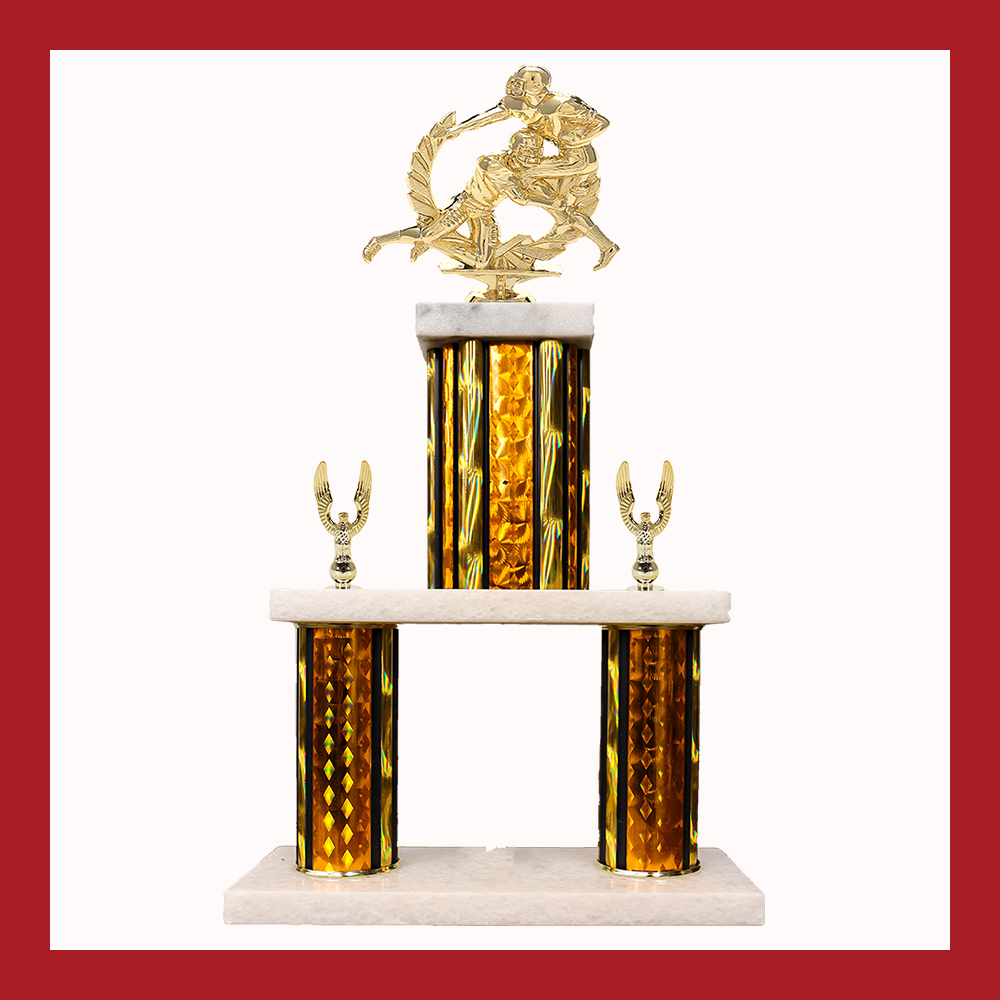 Football Marble Mini Two Poster Trophy