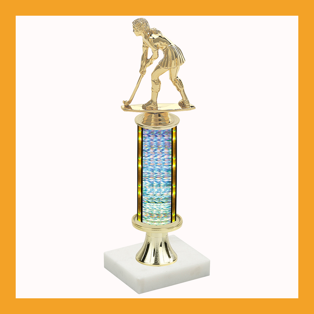Field Hockey Pedestal Trophy