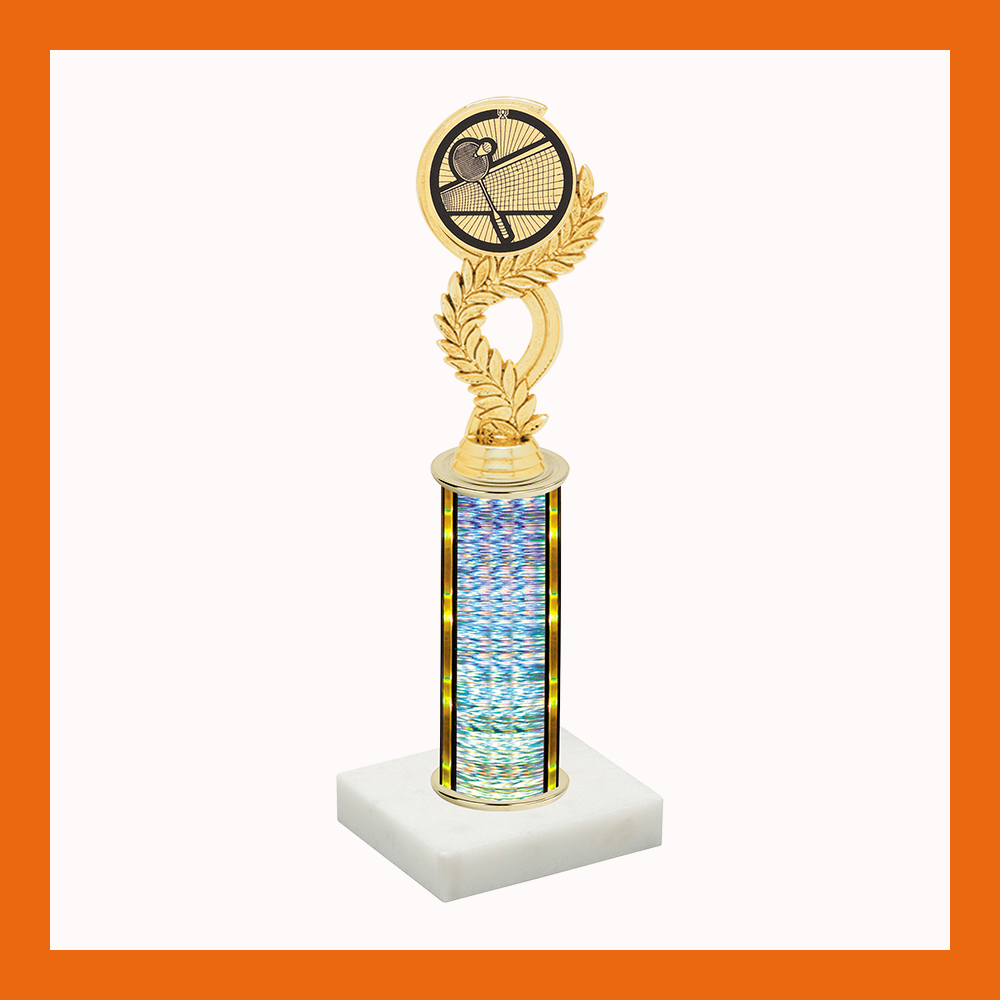 Badminton Laurel Mylar Trophy