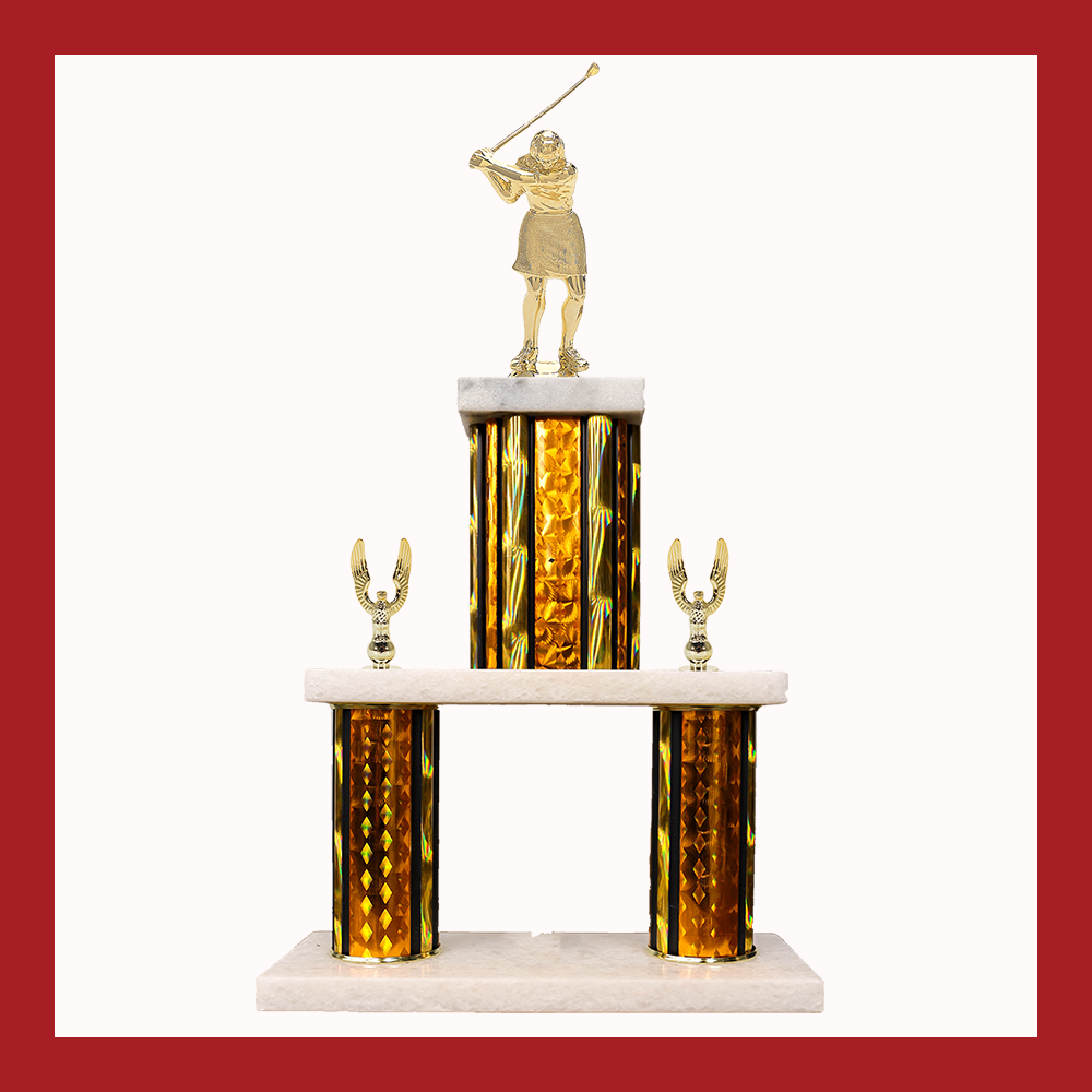 Golf Marble Mini Two Poster Trophy