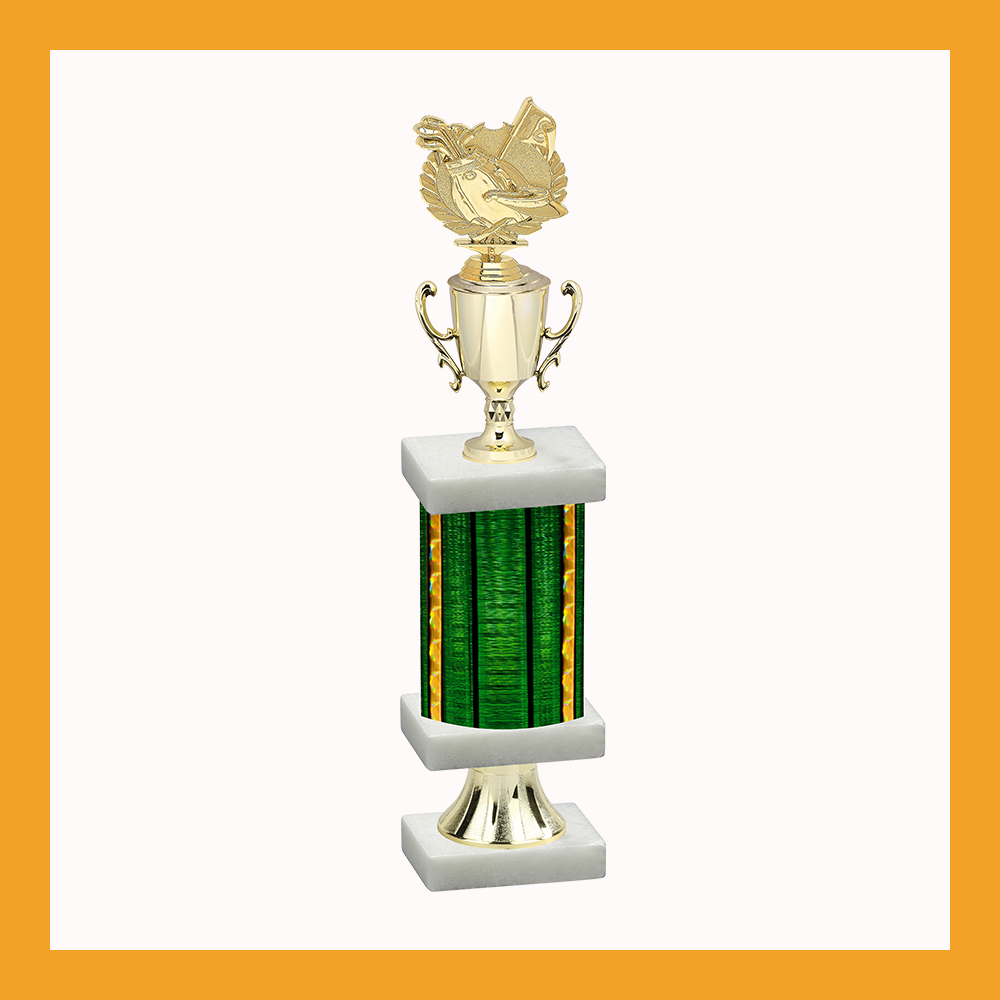 Golf Column Pedestal Trophy With Cup