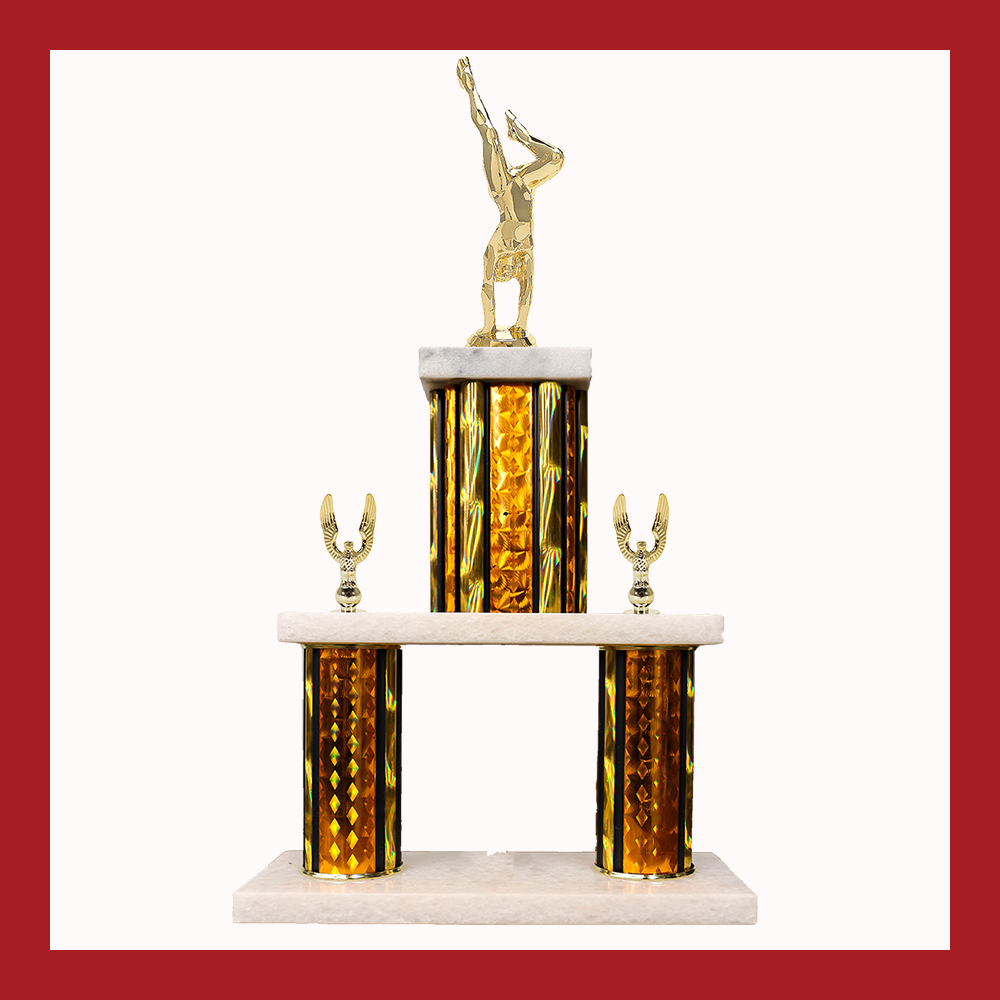 Gymnastics Marble Mini Two Poster Trophy