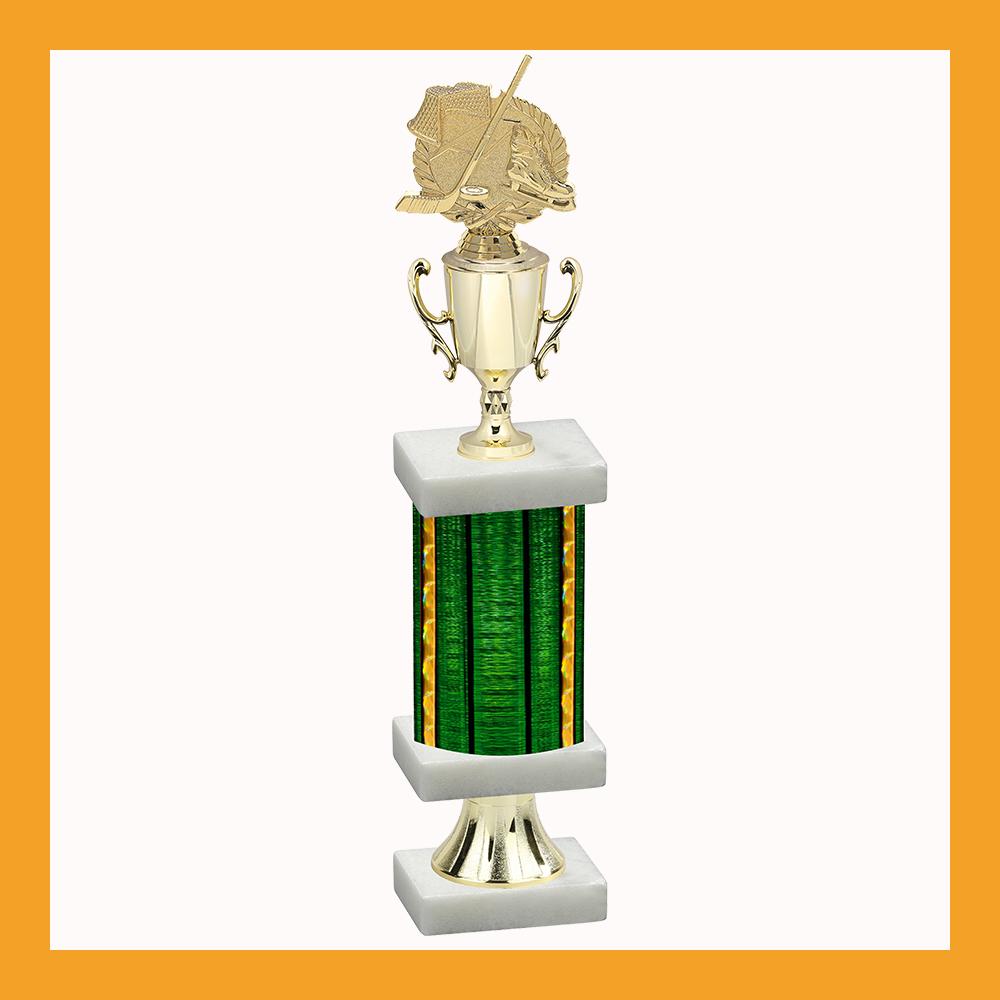 Hockey Column Pedestal Trophy With Cup