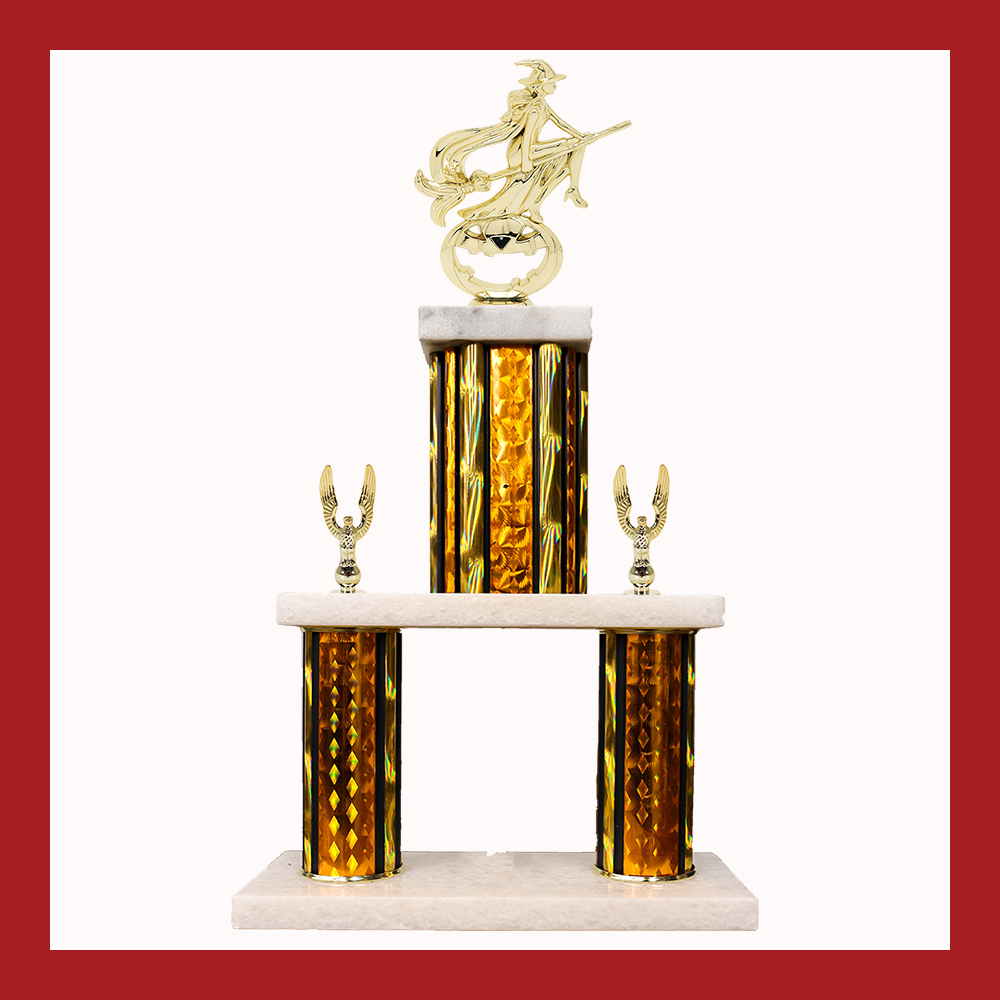 Holiday Marble Mini Two Poster Trophy