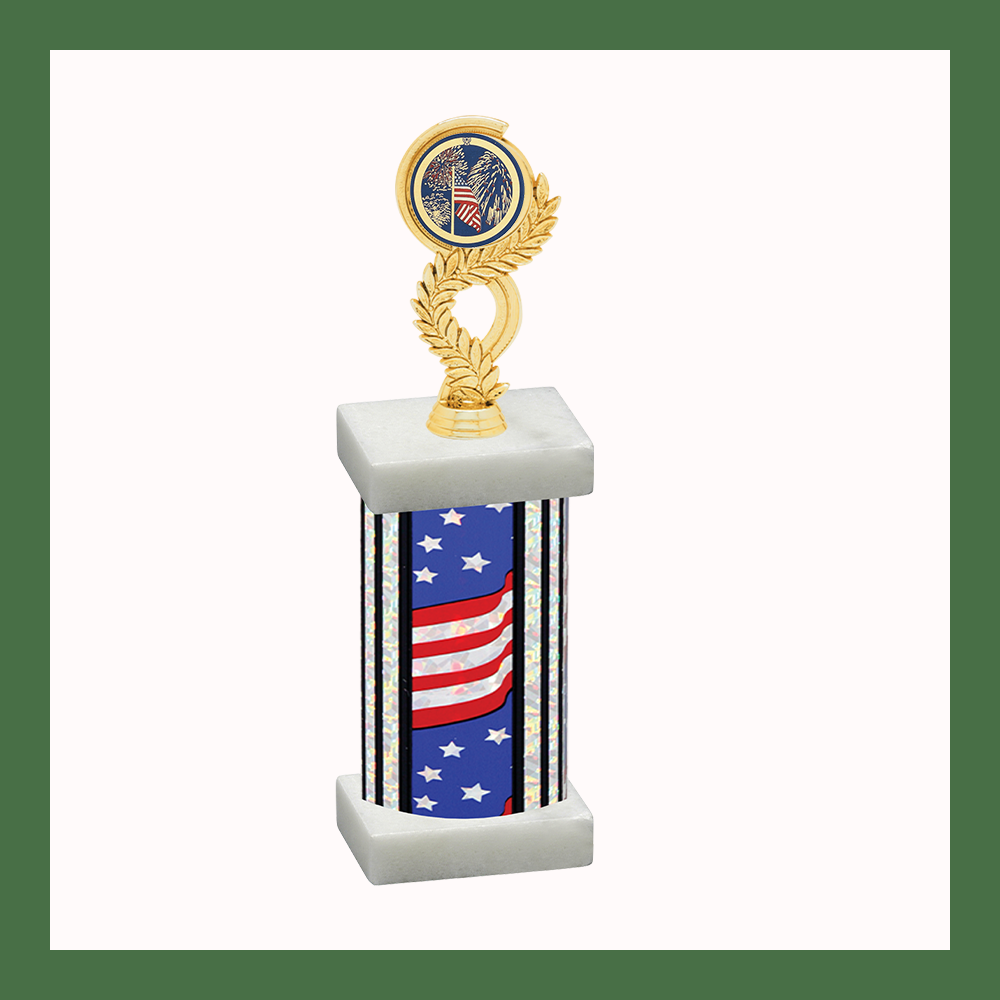 Holiday Laurel Mylar Column Trophy