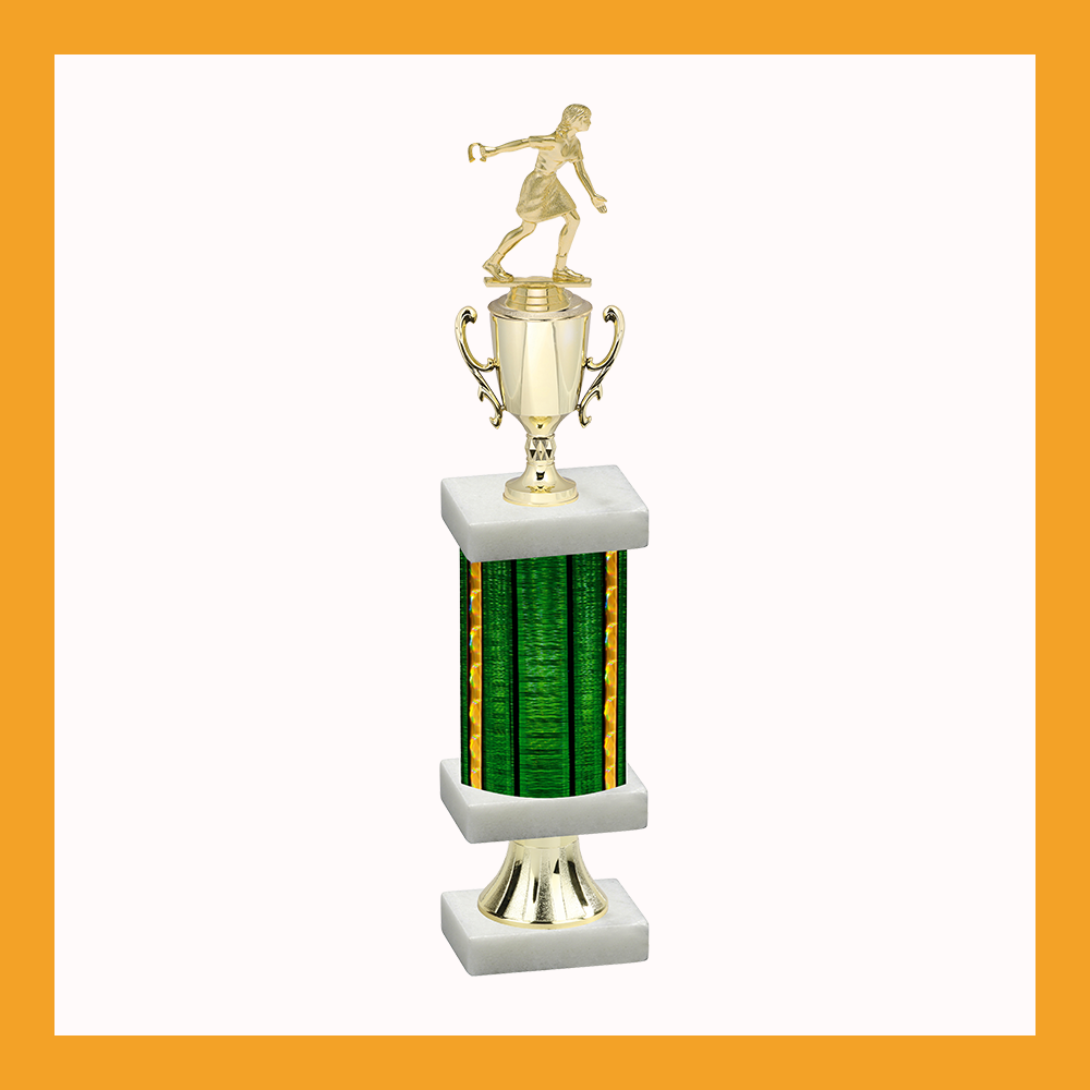Lawn Games Column Pedestal Trophy With Cup