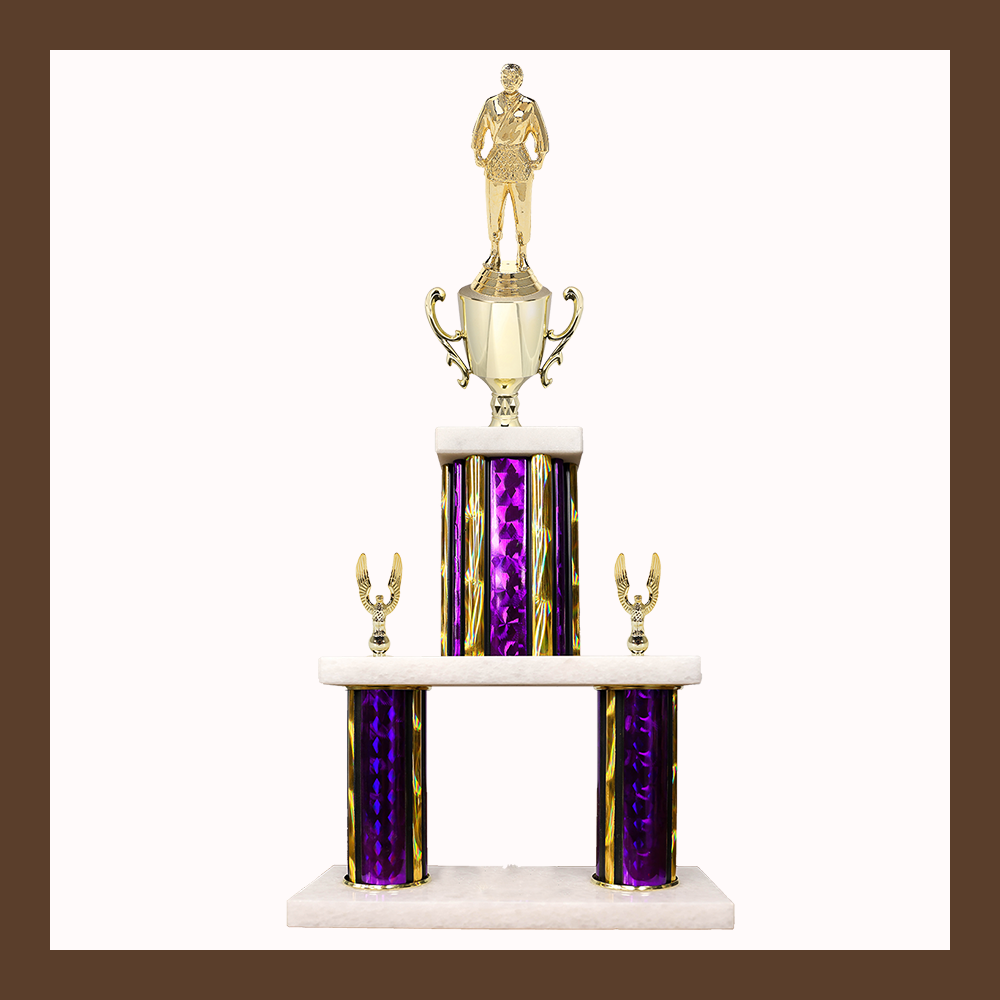 Martial Arts Marble Mini Two Poster Trophy With Cup