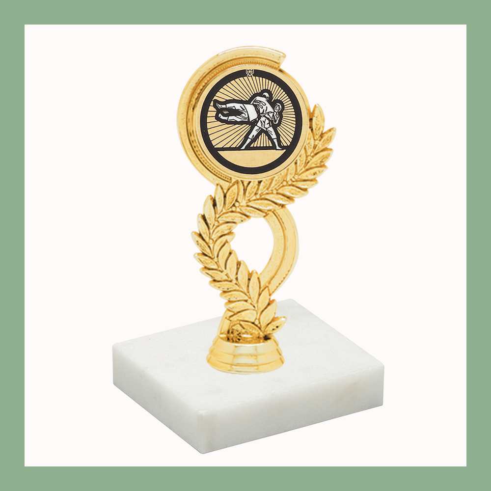 Martial Arts Laurel Mylar Figurine Trophy