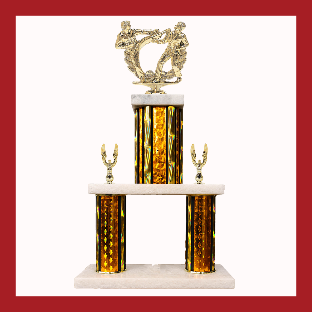 Martial Arts Marble Mini Two Poster Trophy