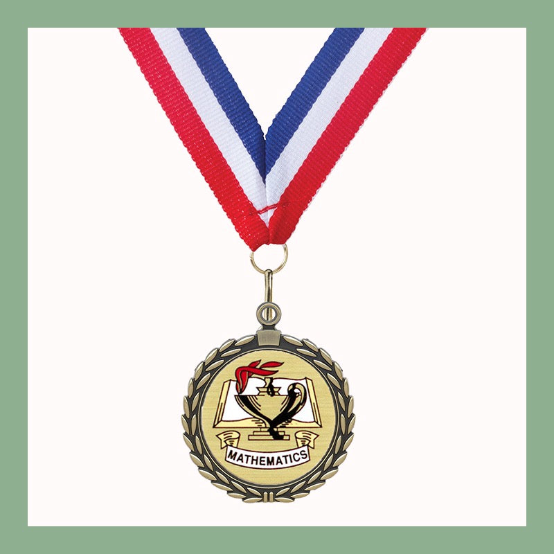 "2"" Classic Academic Mylar Wreath Medals"