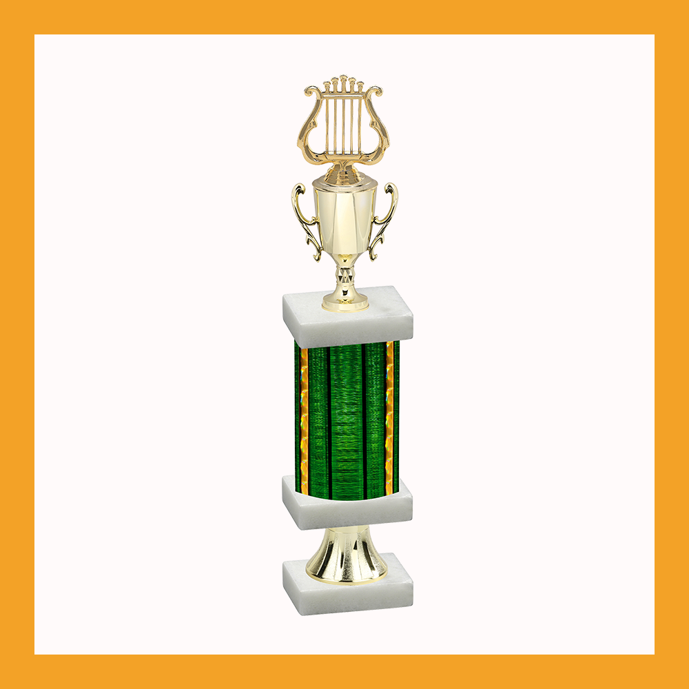 Music & Performing Arts Column Pedestal Trophy With Cup