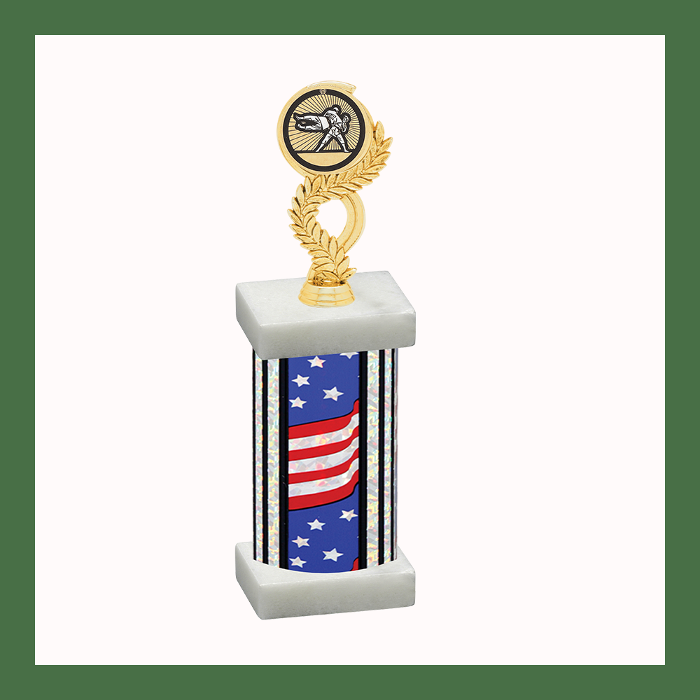 Martial Arts Laurel Mylar Column Trophy