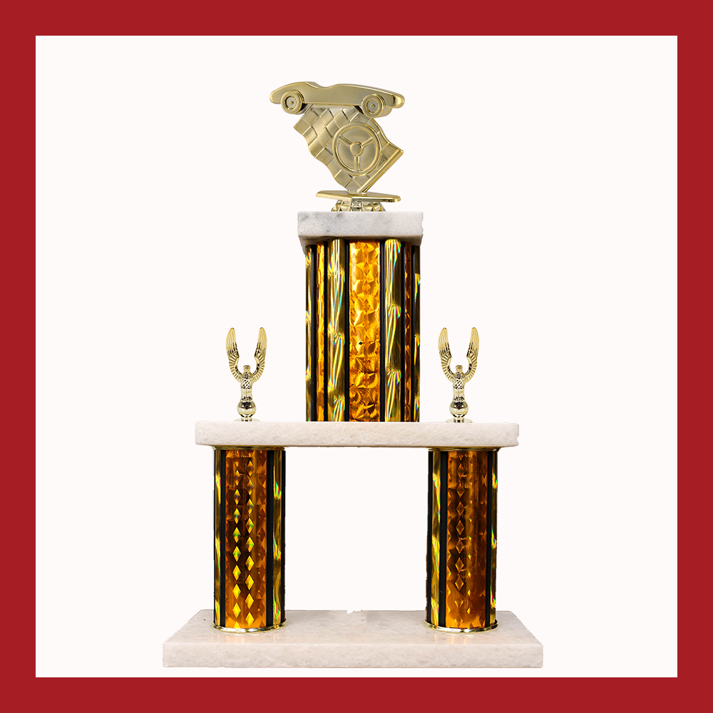 Pinewood Derby Marble Mini Two Poster Trophy