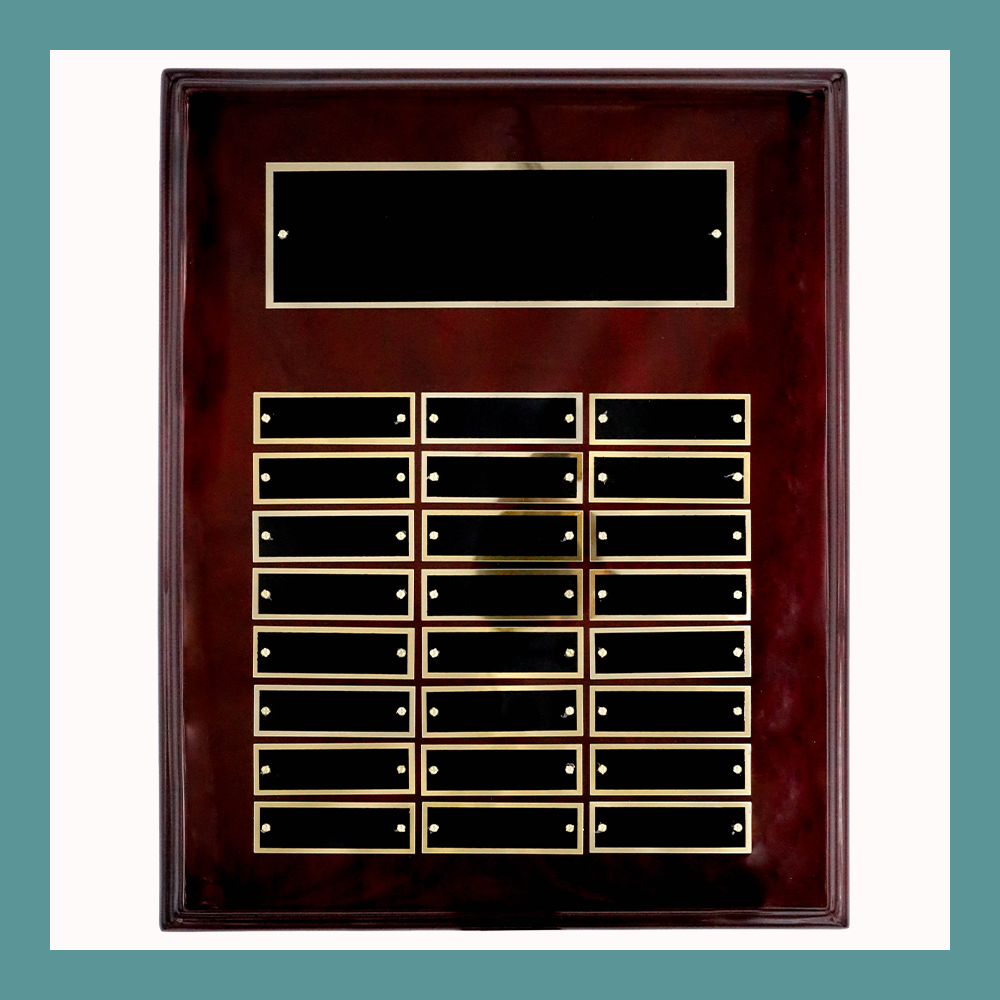 24-Plate Rosewood Piano Finish Perpetual Plaque
