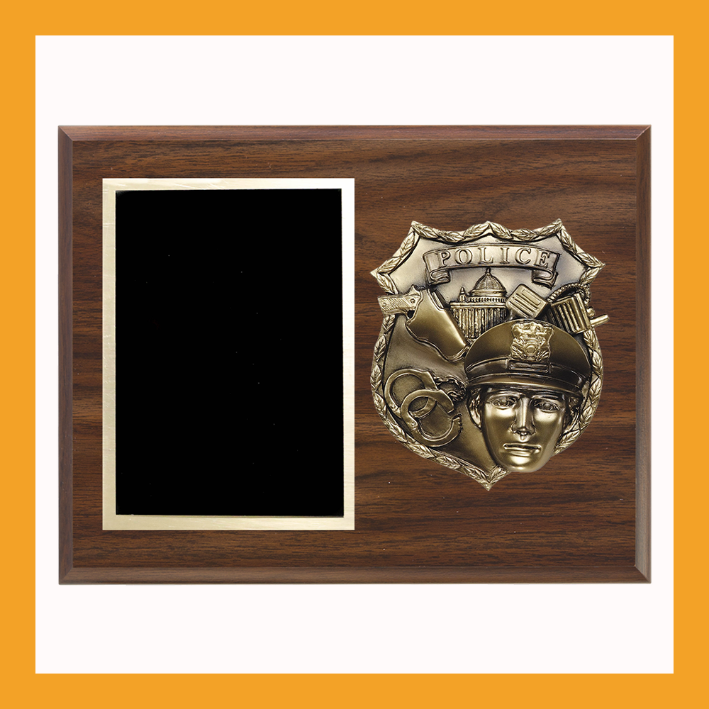Bronze Cast Police Badge Plaque