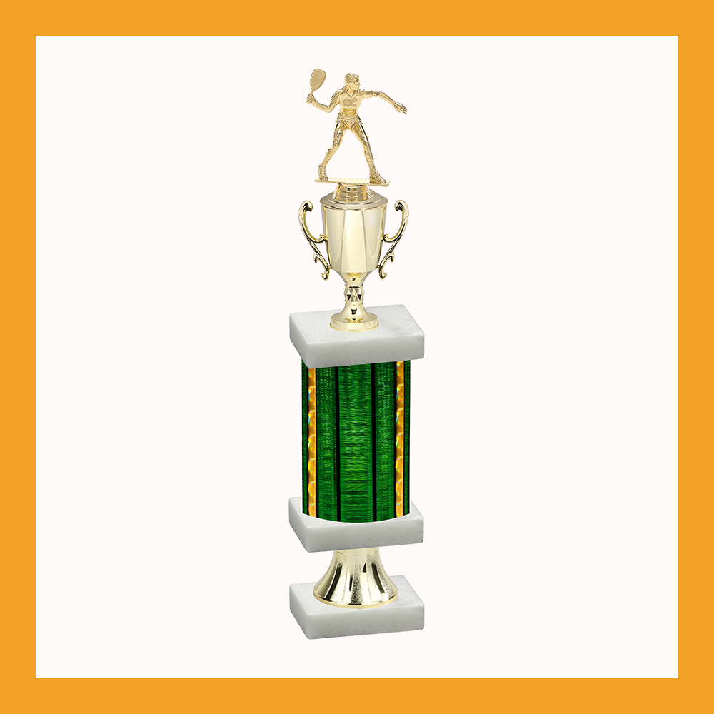 Racquetball Column Pedestal Trophy With Cup
