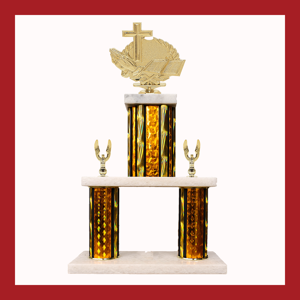 Religion Marble Mini Two Poster Trophy