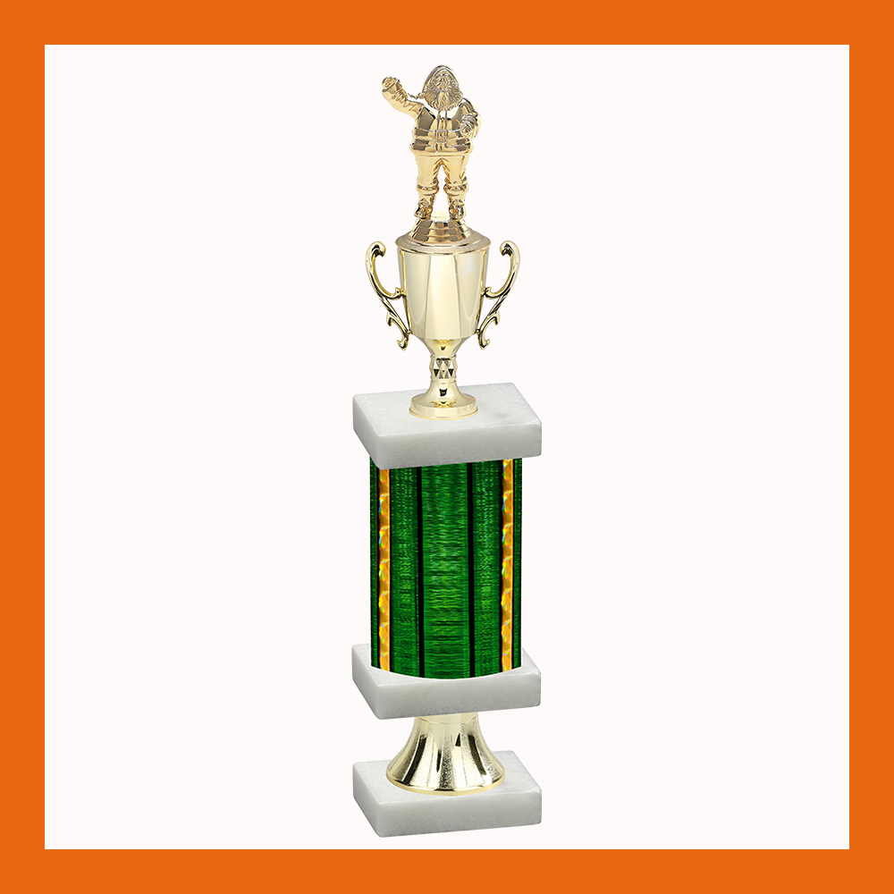 Holiday Column Pedestal Trophy With Cup
