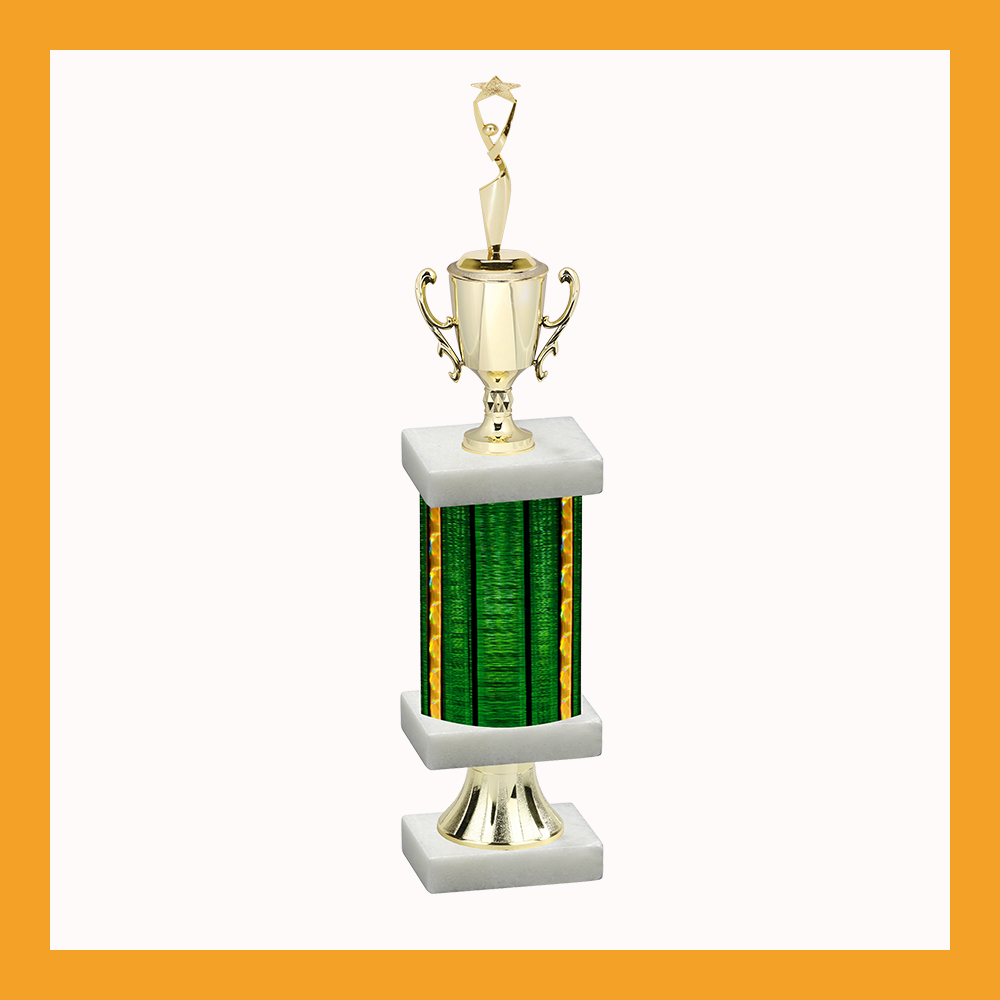 Star Column Pedestal Trophy With Cup