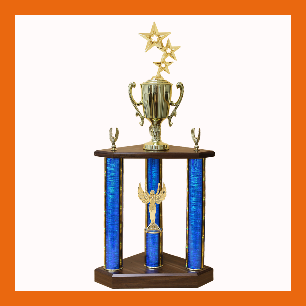 Star Three Poster Trophy
