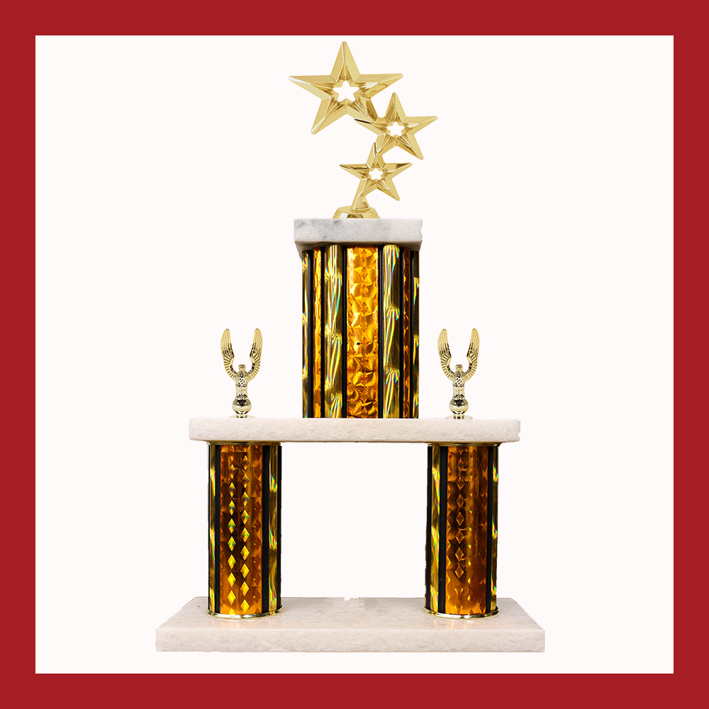 Stars Marble Mini Two Poster Trophy