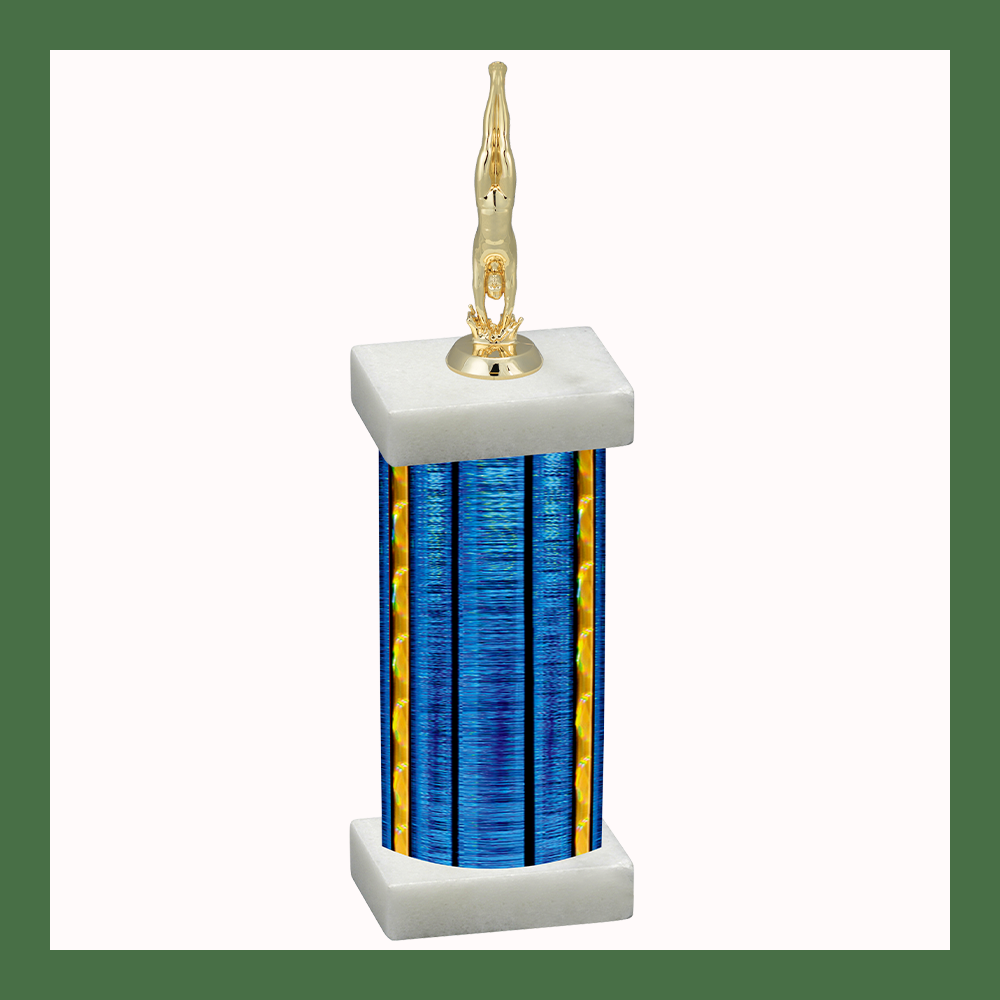 Swimming & Diving Column Trophy