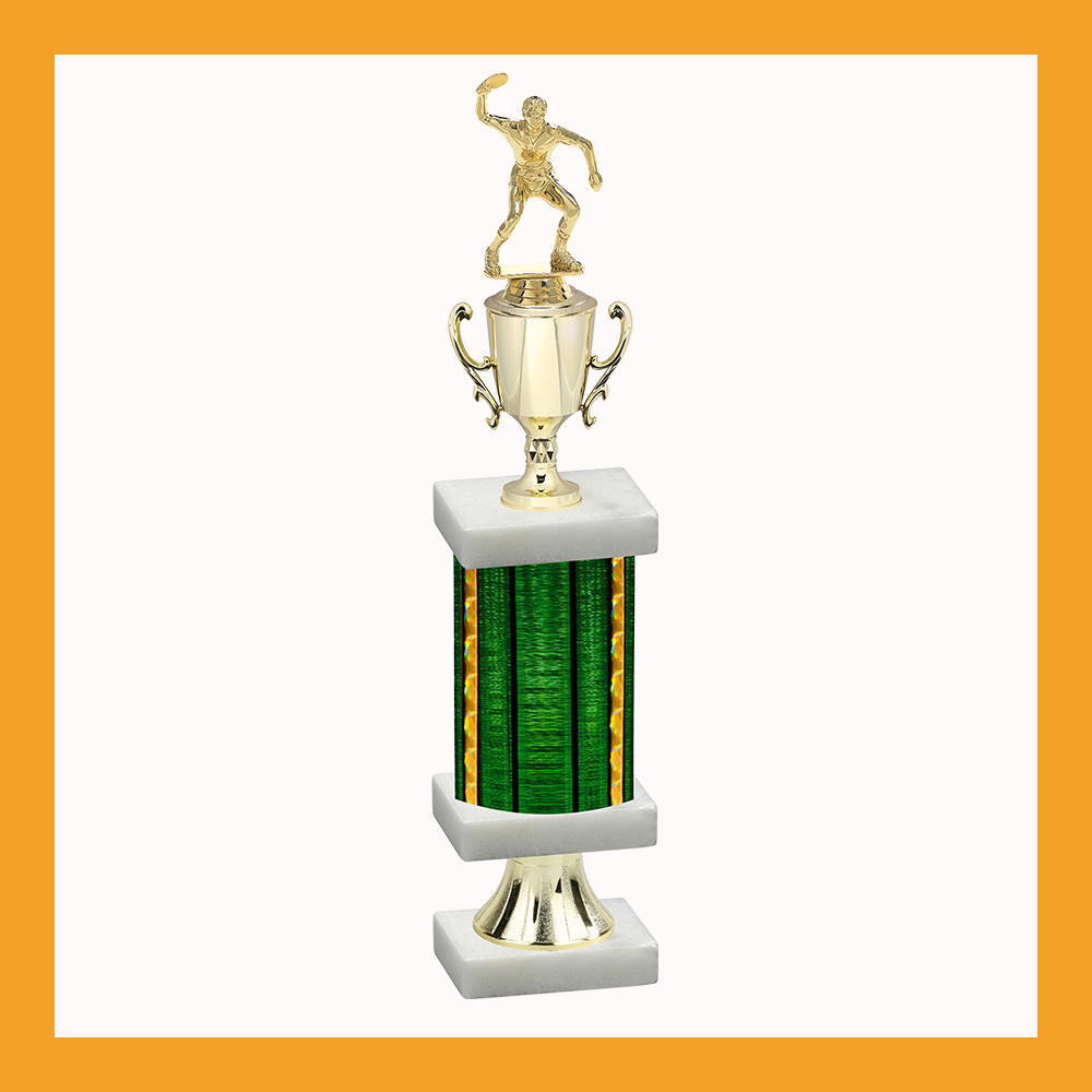 Tennis & Table Tennis Column Pedestal Trophy With Cup