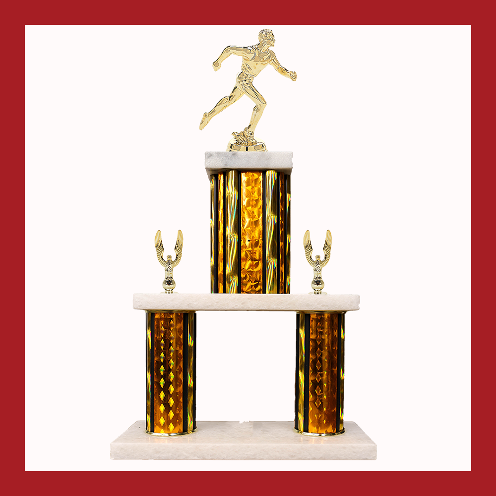 Track & Field Marble Mini Two Poster Trophy