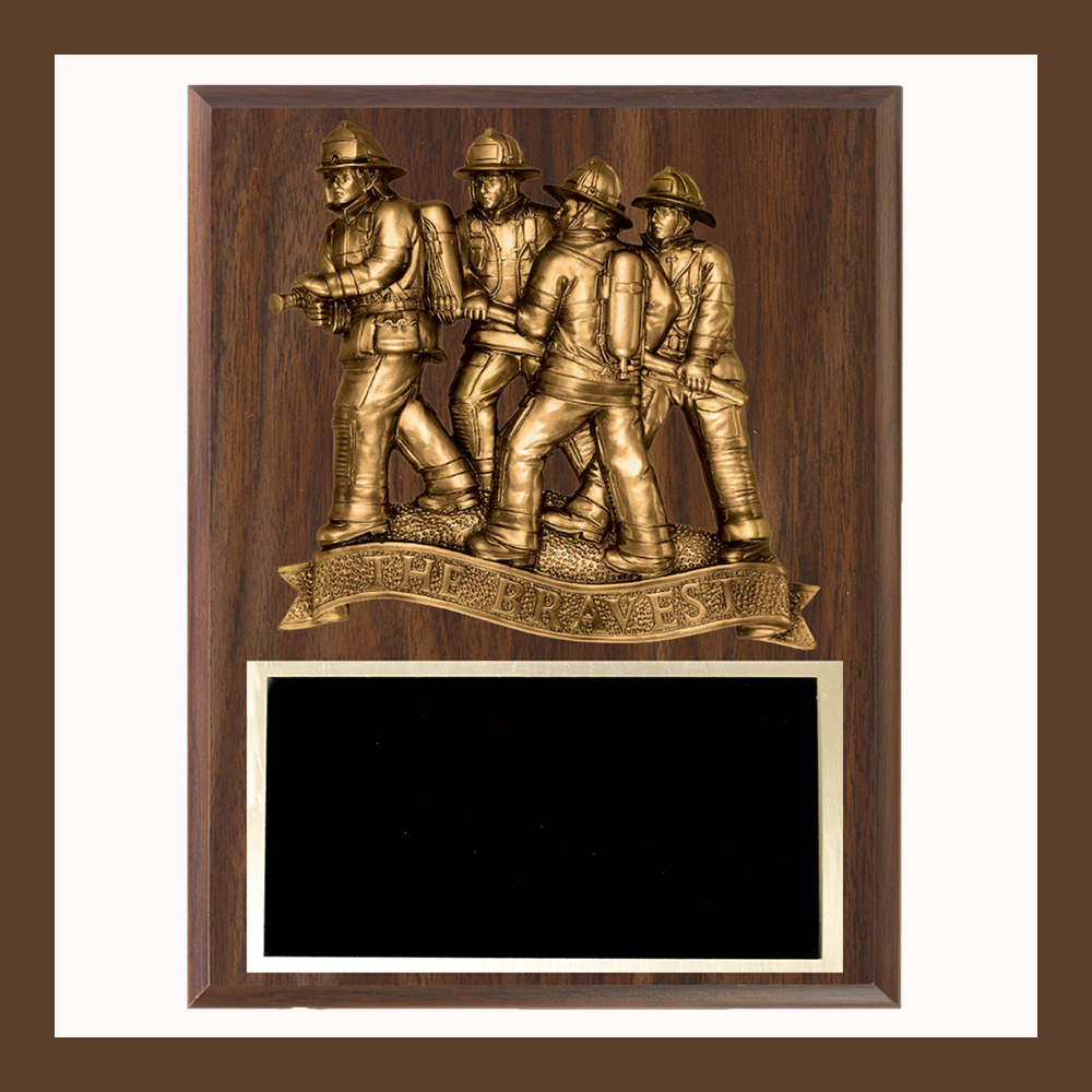 The Bravest Firefighter Plaque