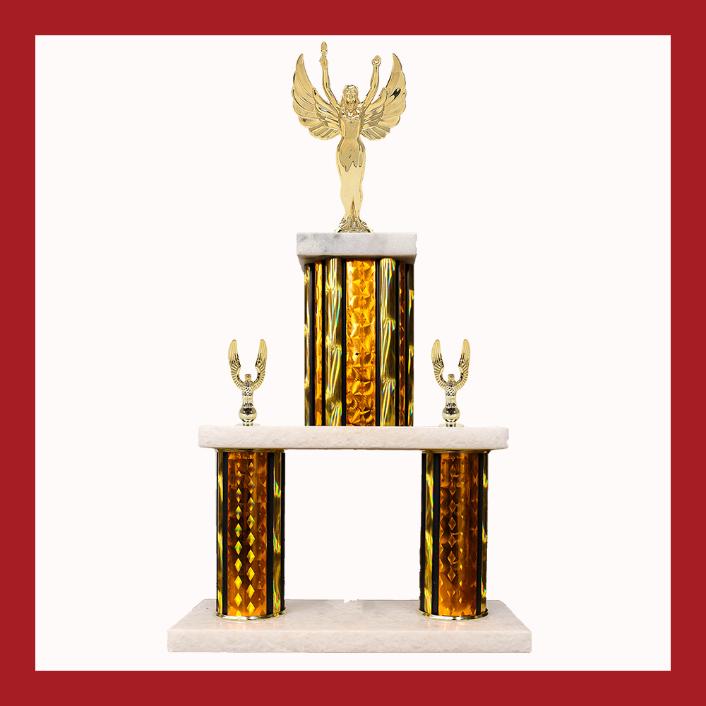 Victory Marble Mini Two Poster Trophy