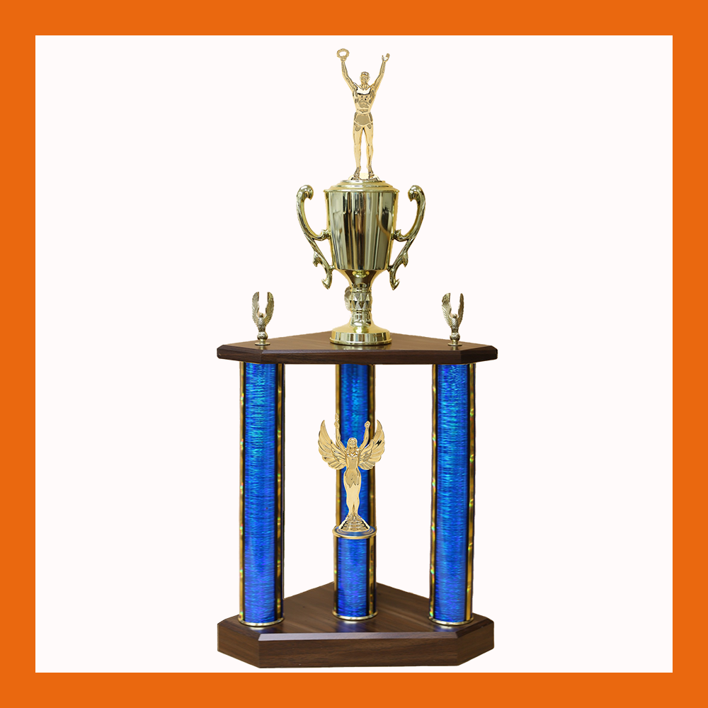 Victory Three Poster Trophy