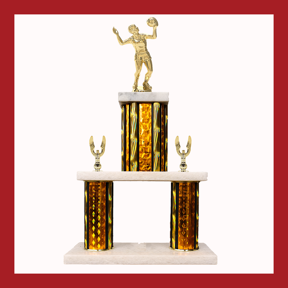 Volleyball Marble Mini Two Poster Trophy