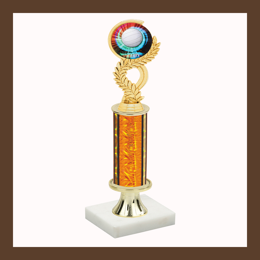 Volleyball Laurel Mylar Pedestal Trophy