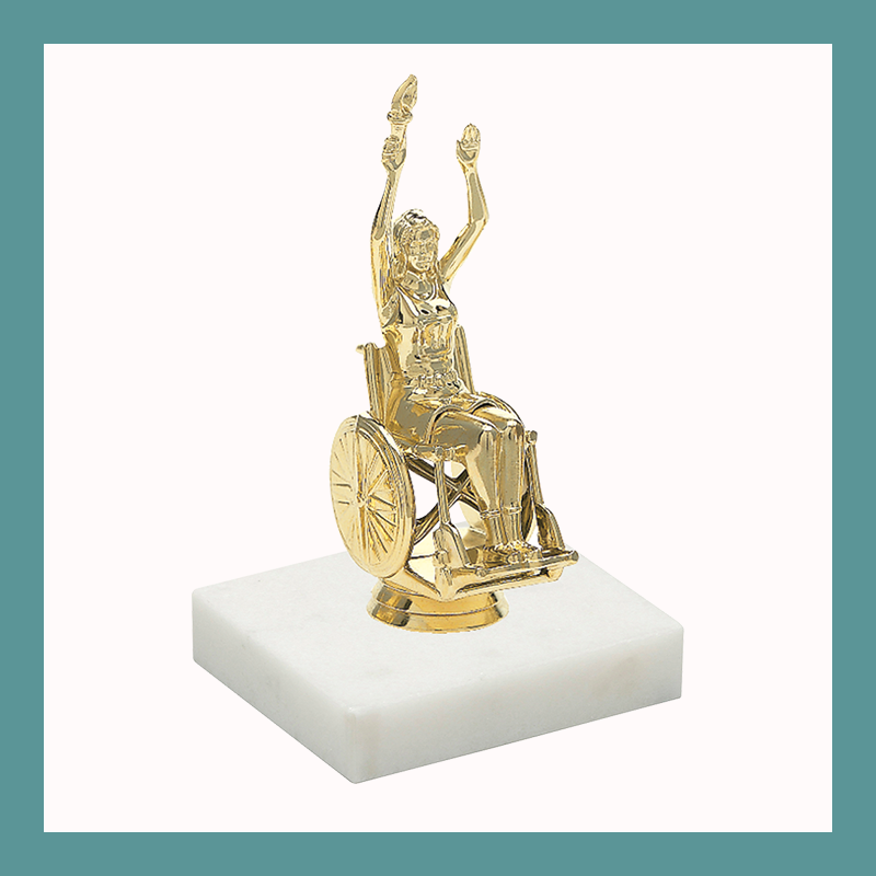 Wheelchair Figurine Trophy