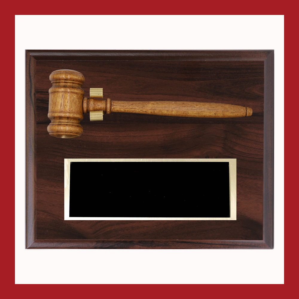 Wooden Gavel Plaque