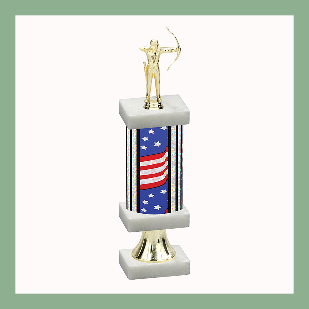 Archery Column Pedestal Trophy