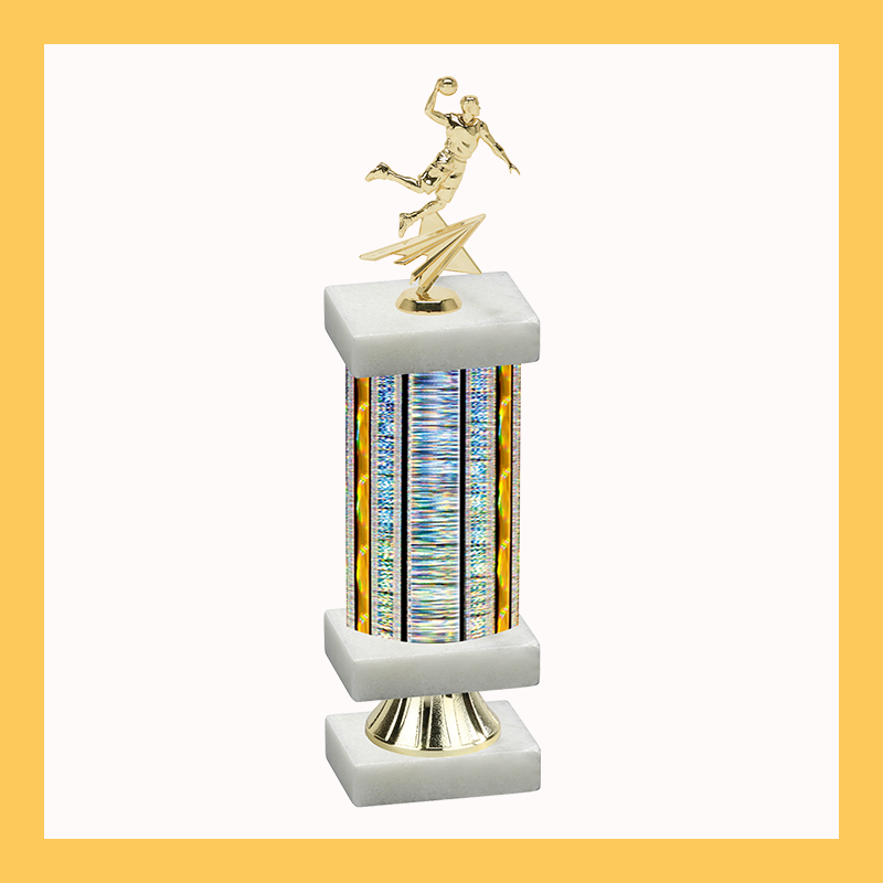 Basketball Column Riser Trophy