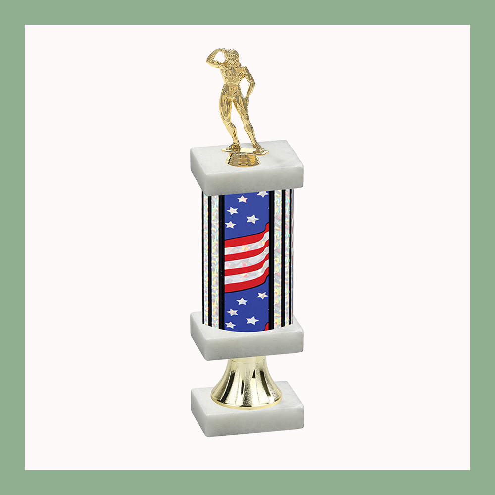 Bodybuilding Column Pedestal Trophy