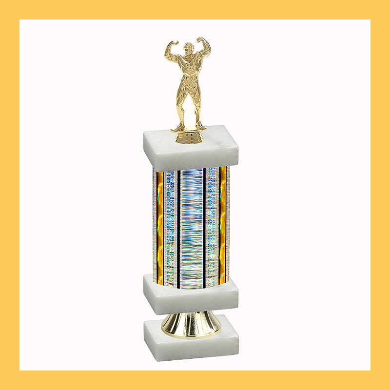 Bodybuilding Column Riser Trophy