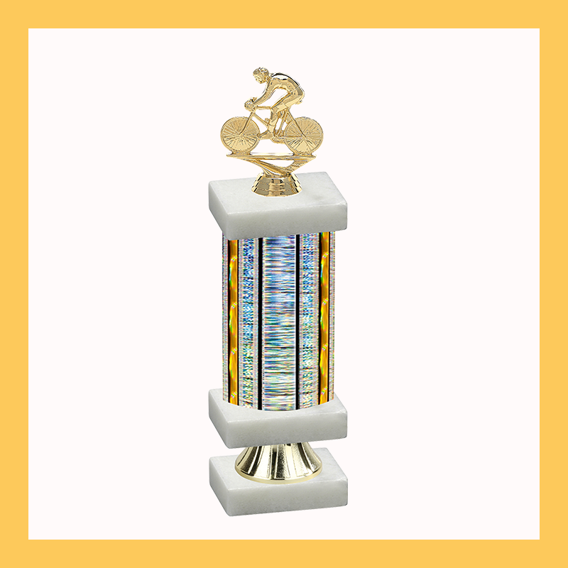 Cycling Column Riser Trophy