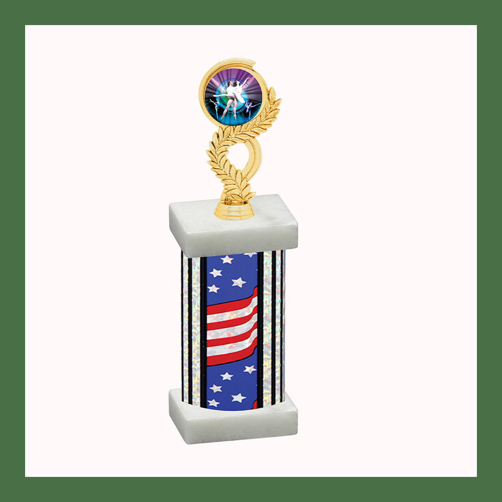 Dance Laurel Mylar Column Trophy