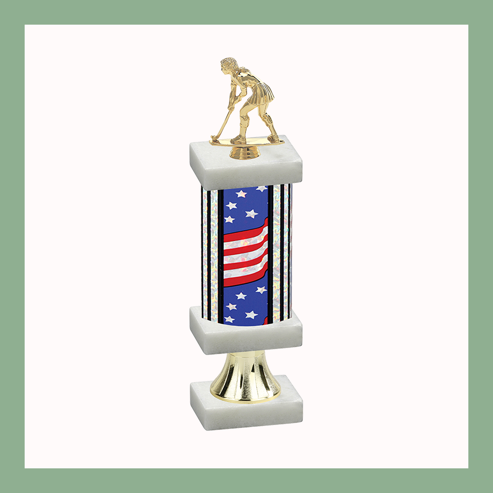 Field Hockey Column Pedestal Trophy