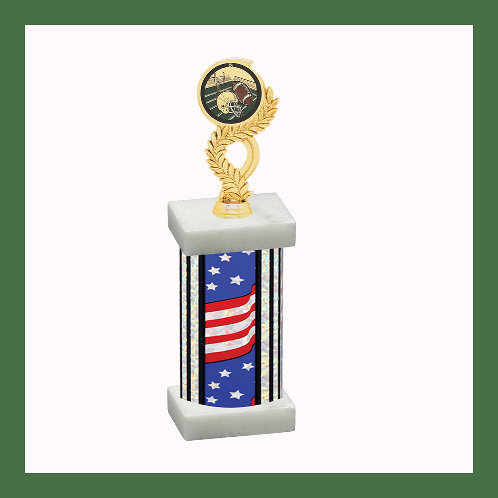 Football Laurel Mylar Column Trophy