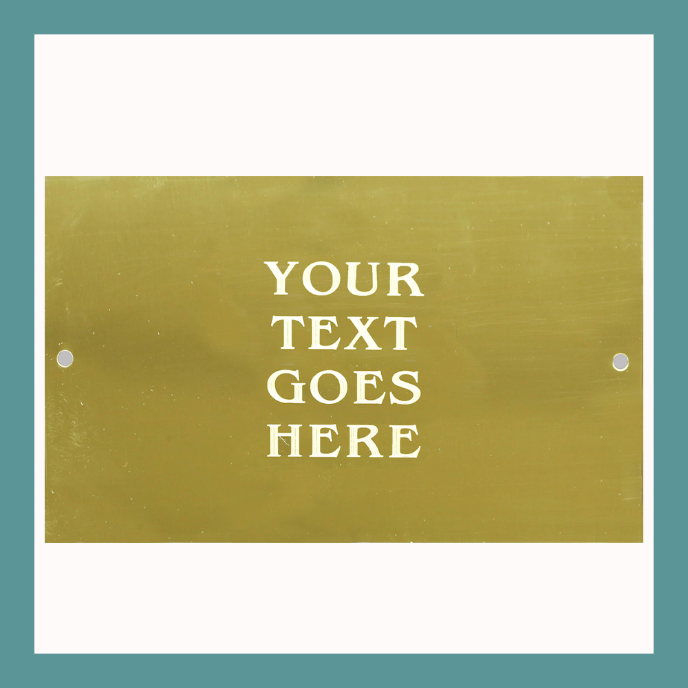 Custom Size | Shiny Brass Plates With Two Holes